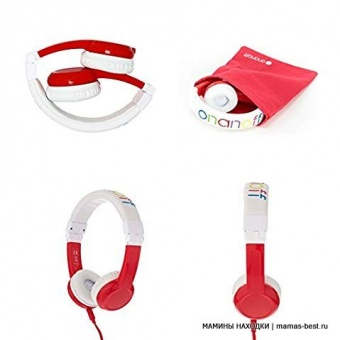 Наушники детские Explore Foldable with Mic Red LUNII BP-EX-FD-RED-01-K